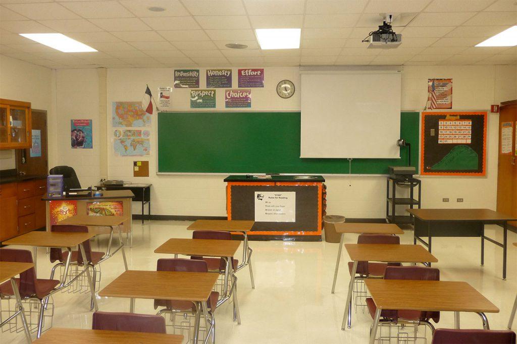 Sanitizes Classroom