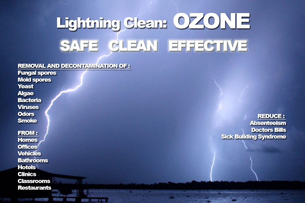 Lightning Electrical Discharges create ozone in the nature itself